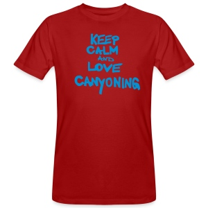 keep calm and love canyoning - Männer Bio-T-Shirt