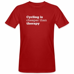 Cycling is therapy - Männer Bio-T-Shirt
