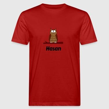 Kinder Schule Geboren Eule Motiv Hasan - Männer Bio-T-Shirt