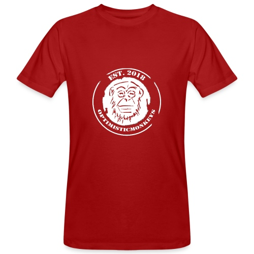 Caps Logo Opti Monki White Edition - Männer Bio-T-Shirt