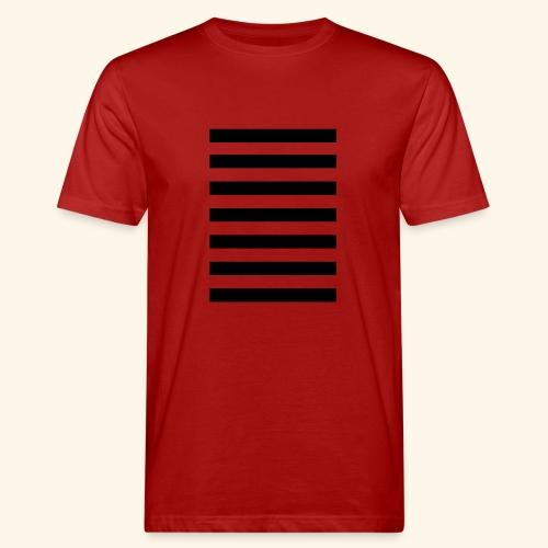 White Lands Streifen Muster - Männer Bio-T-Shirt
