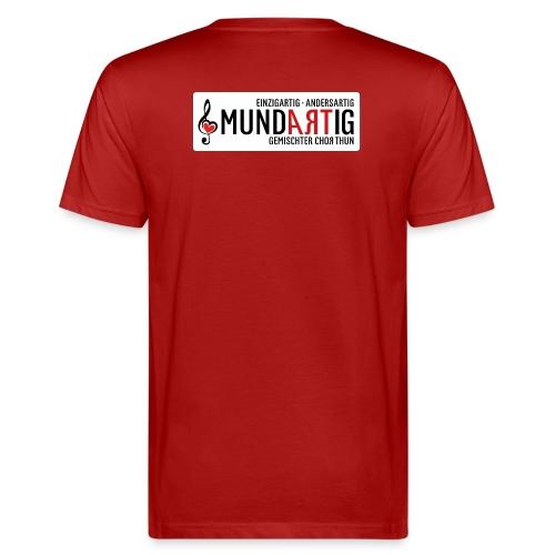 Logo Mundartig - Männer Bio-T-Shirt