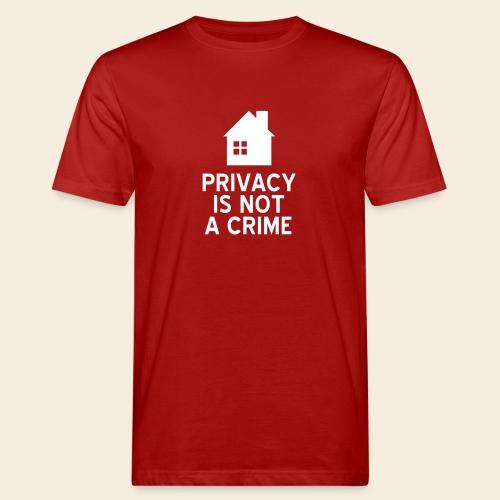 Privacy is not a Crime - Männer Bio-T-Shirt