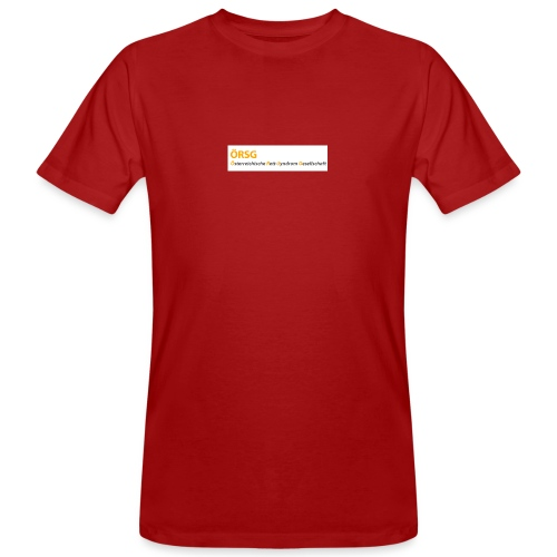 Text-Logo der ÖRSG - Rett Syndrom Österreich - Männer Bio-T-Shirt