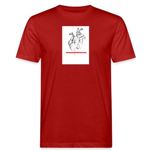 Le coeur flou et sa barre - T-shirt bio Homme