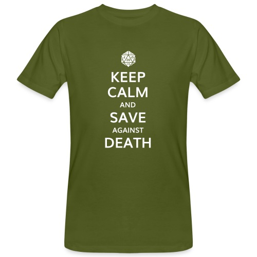 Keep calm and save against death - T-shirt bio Homme