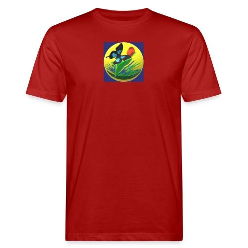 Farfalla e Tulipano2 - T-shirt ecologica da uomo