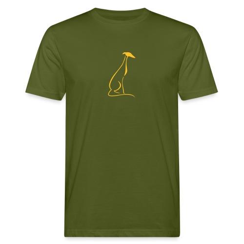 Sitzender Windhund - Männer Bio-T-Shirt
