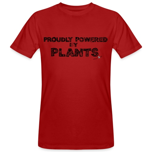 proudly powered by Plants - Men's Organic T-Shirt