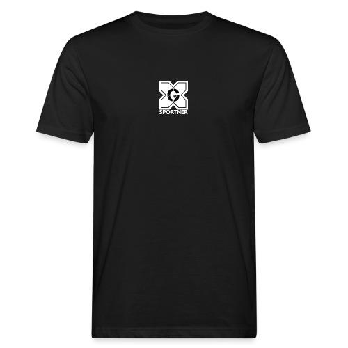 Logo GX SPORTNER blanc - T-shirt bio Homme