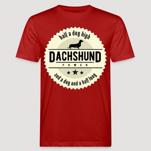Dachshund Power - Mannen Bio-T-shirt