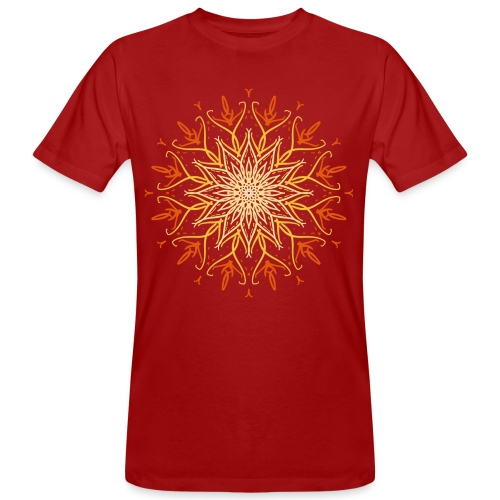 Mandala of fire - Men's Organic T-Shirt