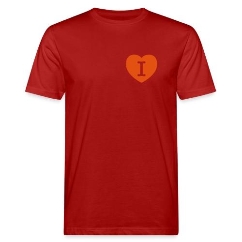 I - LOVE Heart - Men's Organic T-Shirt