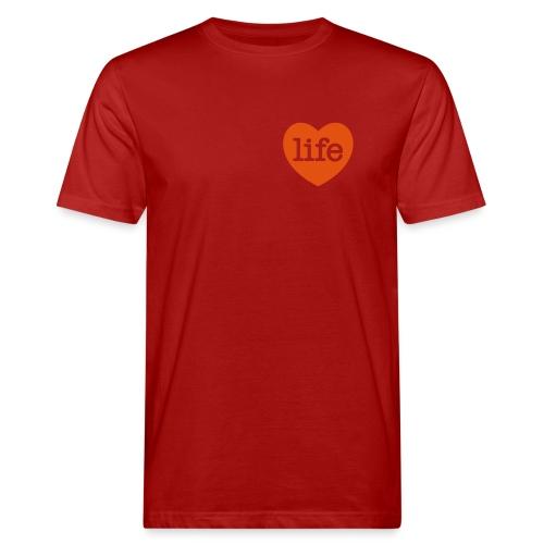 LOVE LIFE heart - Men's Organic T-Shirt