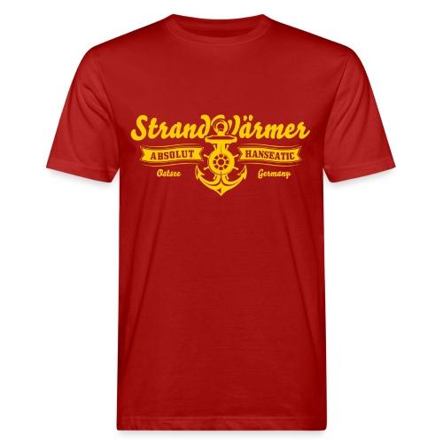StrandWärmer Absolut Hanseatic Anker Gelb - Männer Bio-T-Shirt