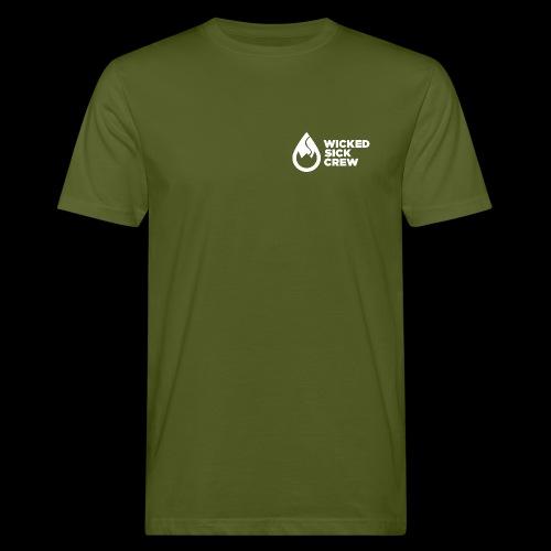 Wicked Sick Crew Logo weiß - Männer Bio-T-Shirt