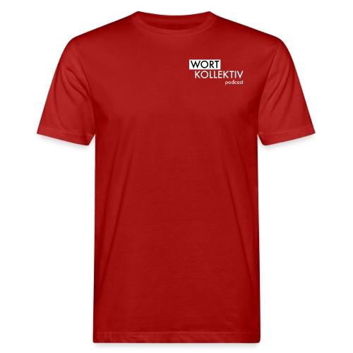 Wortkollektiv Schriftzug weiß - Männer Bio-T-Shirt