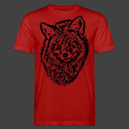 FOX1 - BLACK - Men's Organic T-Shirt
