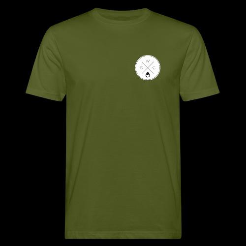 WSC Hipster-Logo rund weiß - Männer Bio-T-Shirt