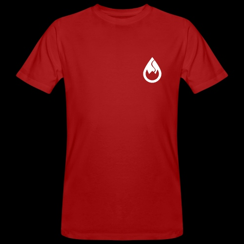 WS-Crew Tropfen-Logo weiß - Männer Bio-T-Shirt