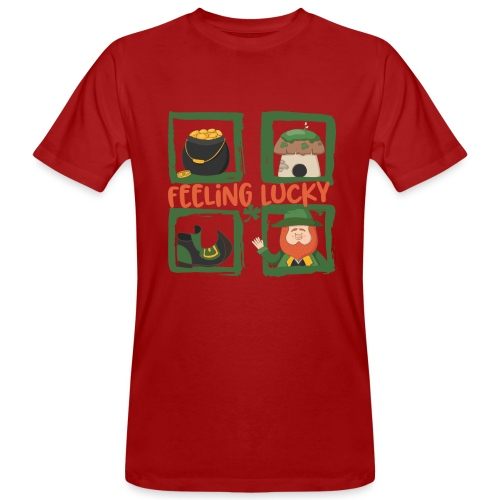 feeling lucky - stay happy - St. Patrick's Day - Men's Organic T-Shirt