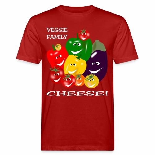 Veggie Family - Cheese! - Men's Organic T-Shirt