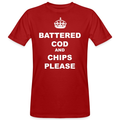 BATTERED COD AND CHIPS PLEASE - Men's Organic T-Shirt