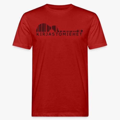 Kirjastokitara musta - Miesten luonnonmukainen t-paita