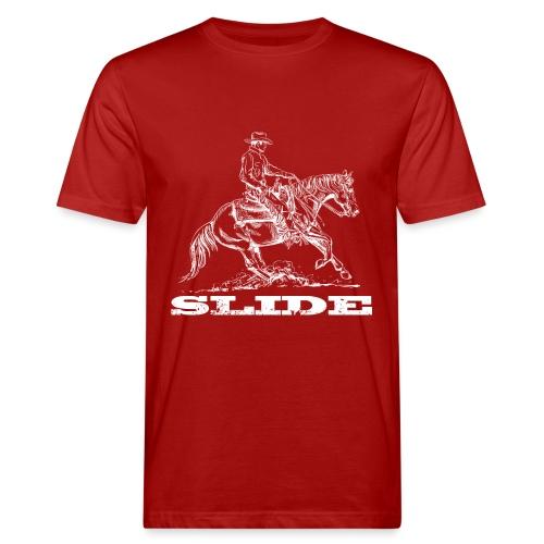 Sliding Stop Westernreiter Reining - Männer Bio-T-Shirt