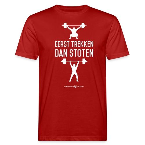 Gewichtheffen Utrecht Trekken Stoten Shirt - Mannen Bio-T-shirt