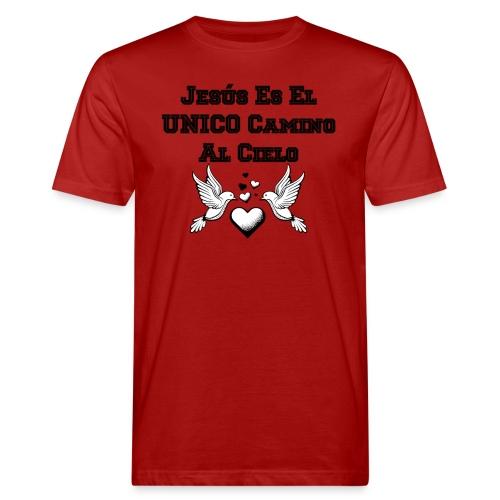 Jesus Unico camino al cielo - Camiseta ecológica hombre