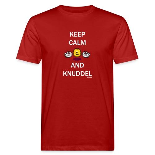 Keep Calm And Knuddel - Männer Bio-T-Shirt