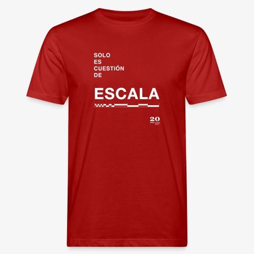 escala - Camiseta ecológica hombre