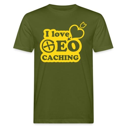 I love Geocaching - 1color - 2011 - Männer Bio-T-Shirt