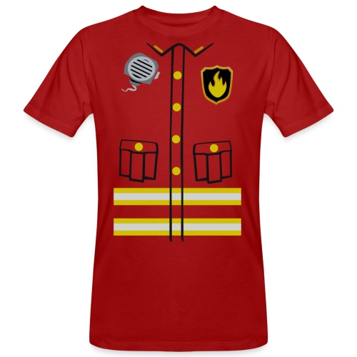 Firefighter Costume - Men's Organic T-Shirt