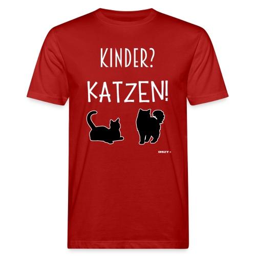 Meine Katzen sind meine Kinder Katzenliebhaber - Männer Bio-T-Shirt