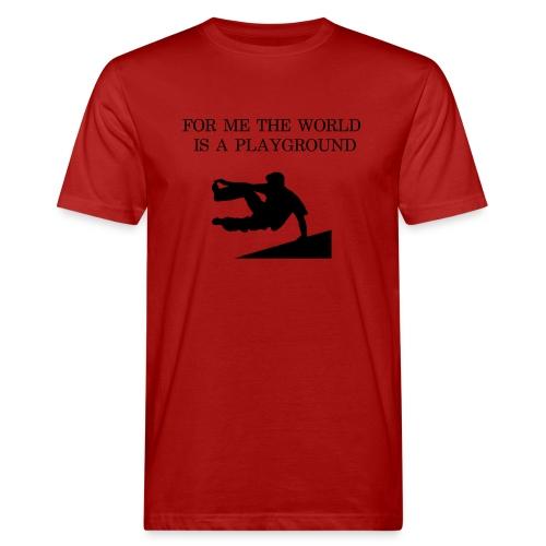 THE WORLD IS A PLAYGROUND - Ekologisk T-shirt herr