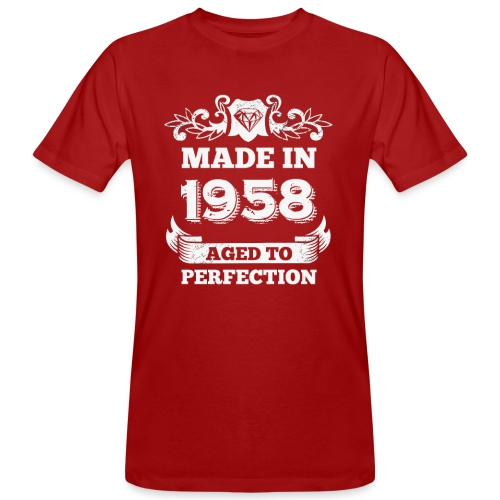 60th Birthday gift Made in 1958 Aged to Perfection - Men's Organic T-Shirt