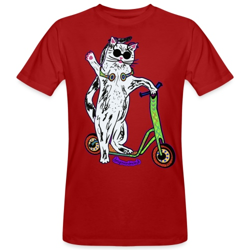 Chat Trottinette - Männer Bio-T-Shirt