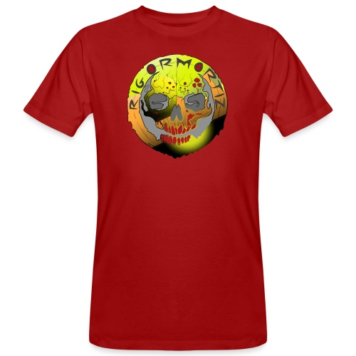 Rigormortiz Metallic Yellow Orange Design - Men's Organic T-Shirt