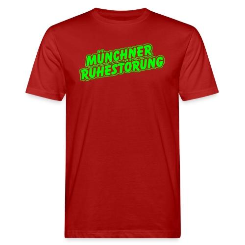 schrift lila - Männer Bio-T-Shirt