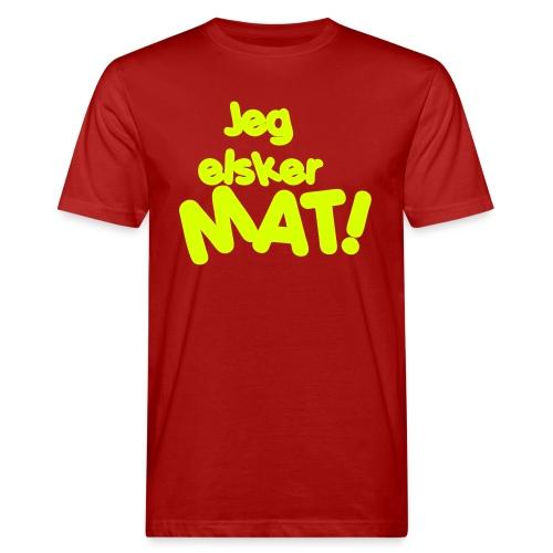 Jeg elsker mat - Økologisk T-skjorte for menn