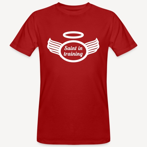 SAINT IN TRAINING - Men's Organic T-Shirt