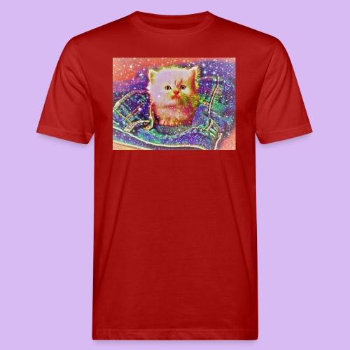Gattino scintillante nella tasca dei jeans - T-shirt ecologica da uomo