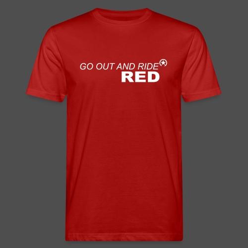 jeździć czerwonym - Ekologiczna koszulka męska