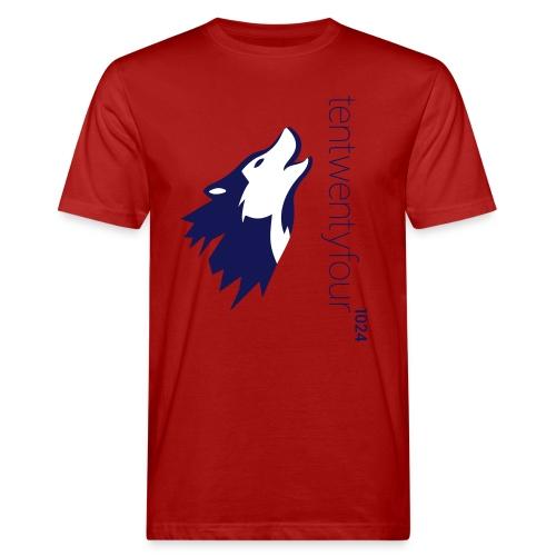 1024_LOGO_blue_ - Männer Bio-T-Shirt