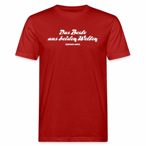 Das Beste aus beiden Welten - Männer Bio-T-Shirt