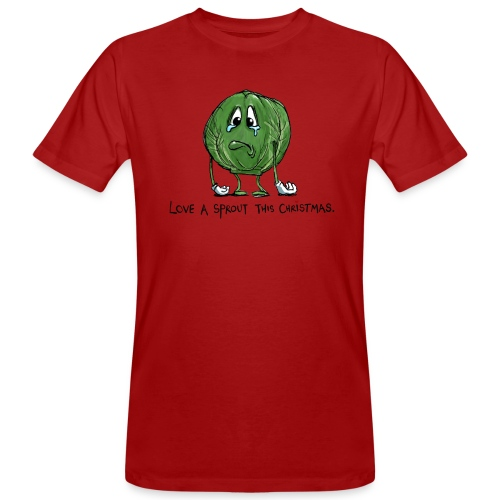 Christmas Sprout funny vegetable jumper - T-shirt ecologica da uomo