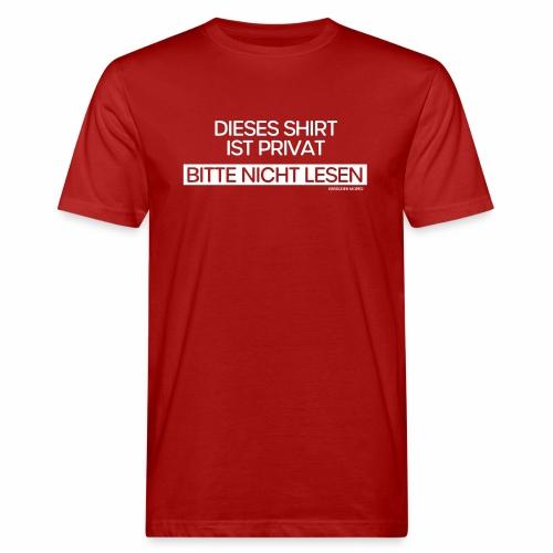 Privat - Männer Bio-T-Shirt