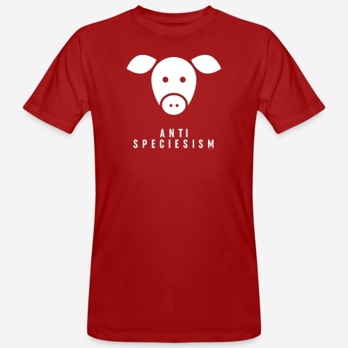 Antispeciesism Single Edition – Pig - Männer Bio-T-Shirt